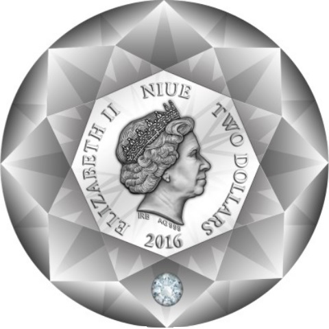 niue 2016 diamant avers