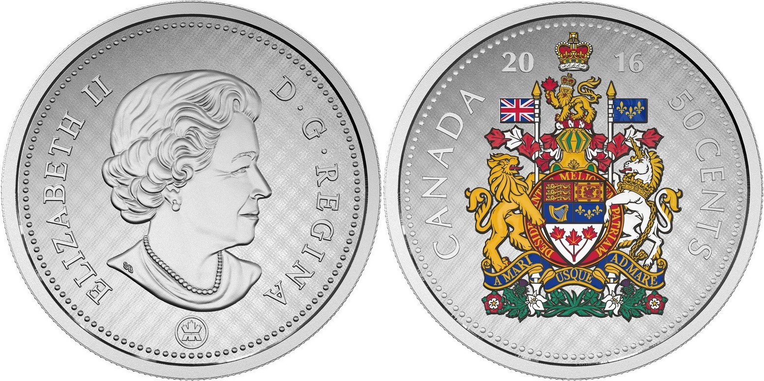 canada 2016 grosses pièces 50 cts