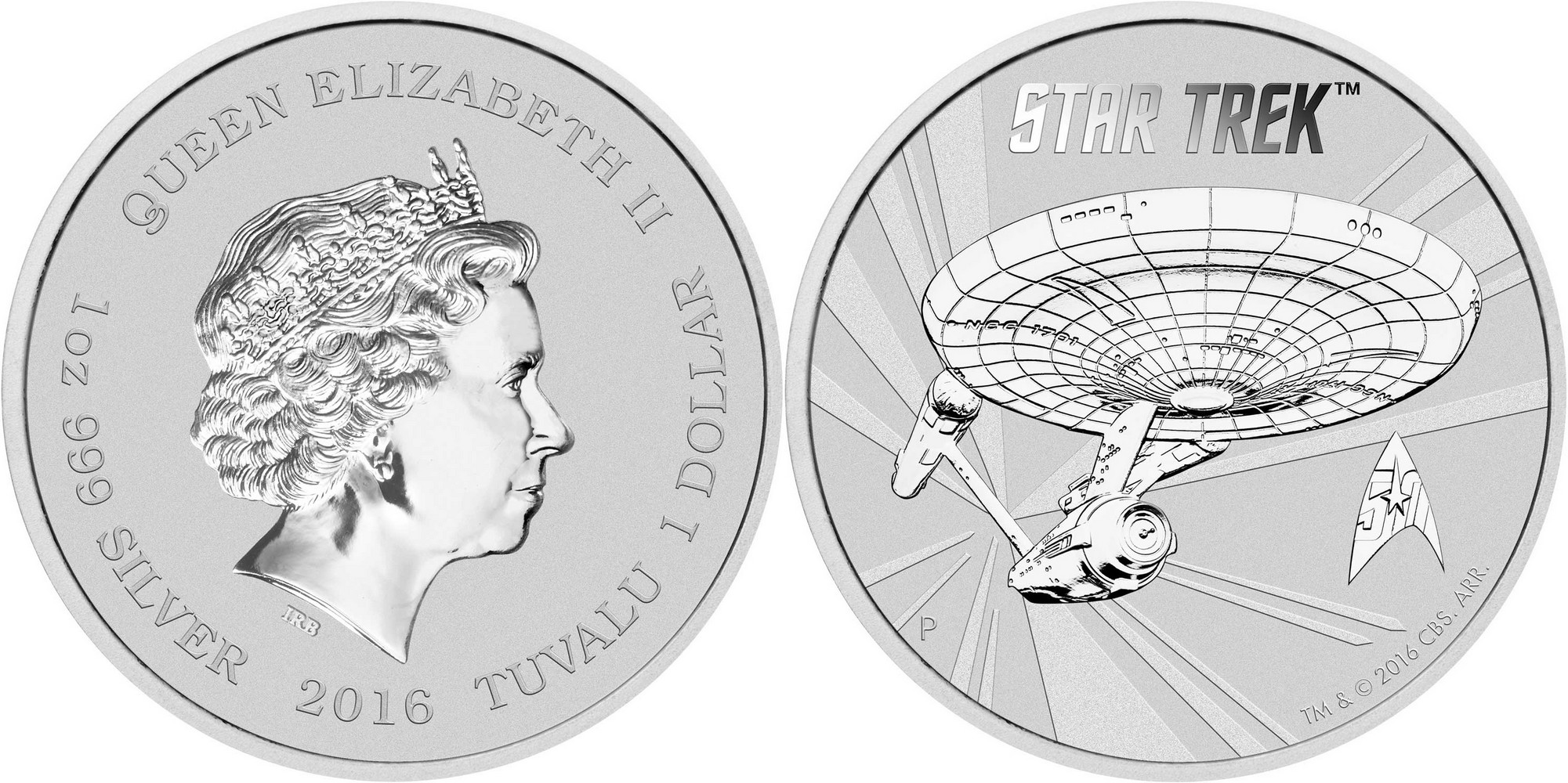 tuvalu 2016 star trek bullion