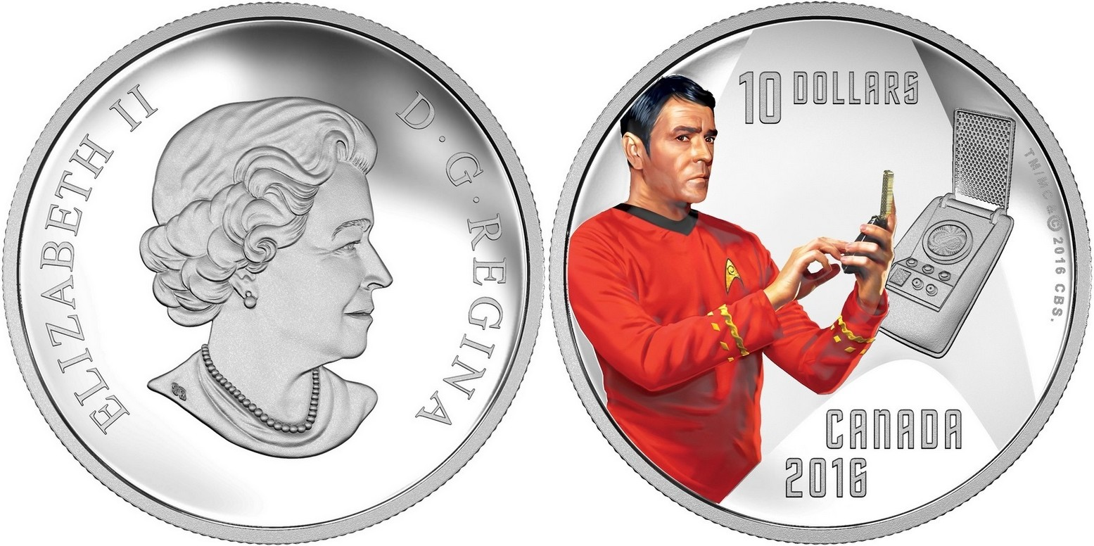 canada 2016 10 $ star trek scotty