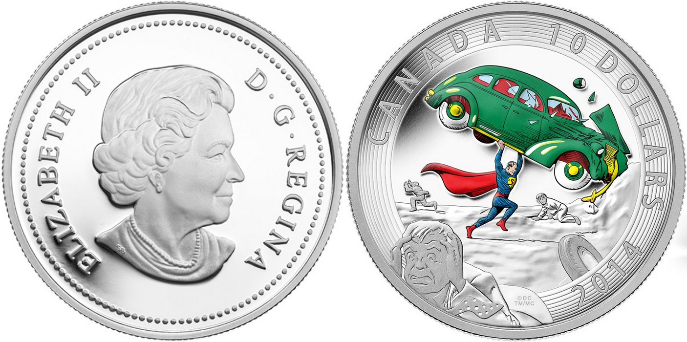 canada 2014 superman 10$
