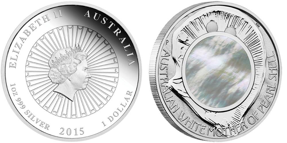 australie 2015 nacre blanche