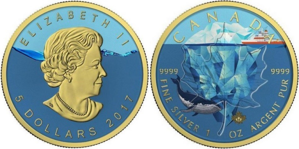 canada 2017 maple leaf iceberg
