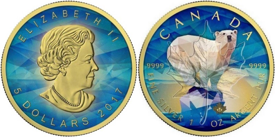 canada 2017 maple leaf ours polaire