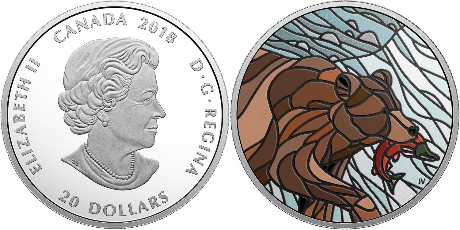 canada 2018 mosaïques canadiennes grizzly