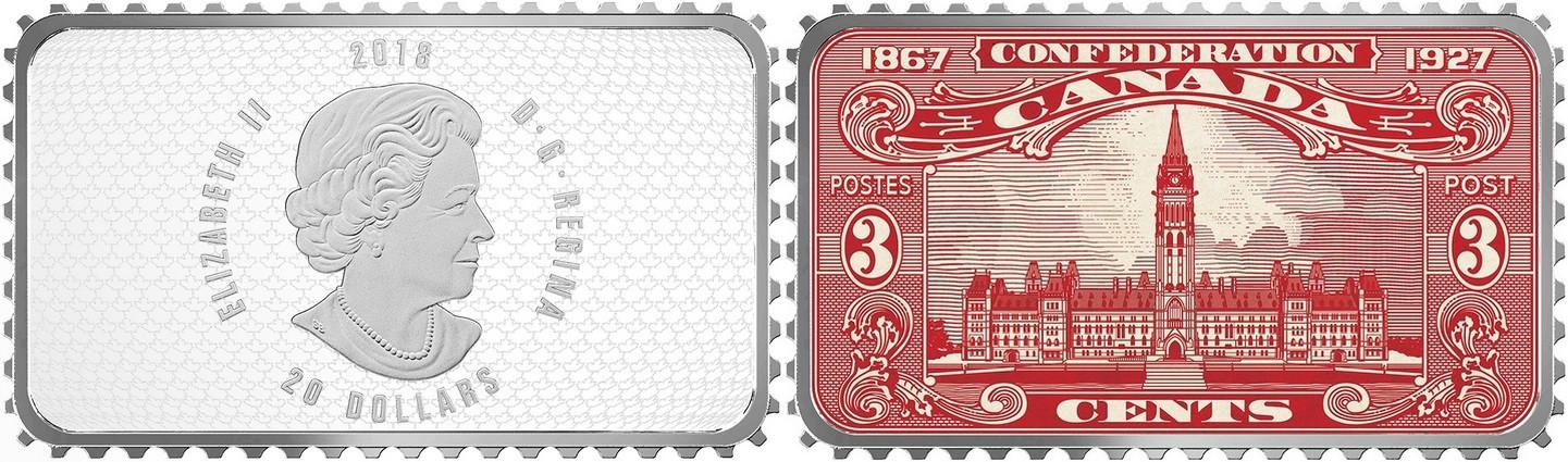 canada 2018 timbres historiques du canada parlement