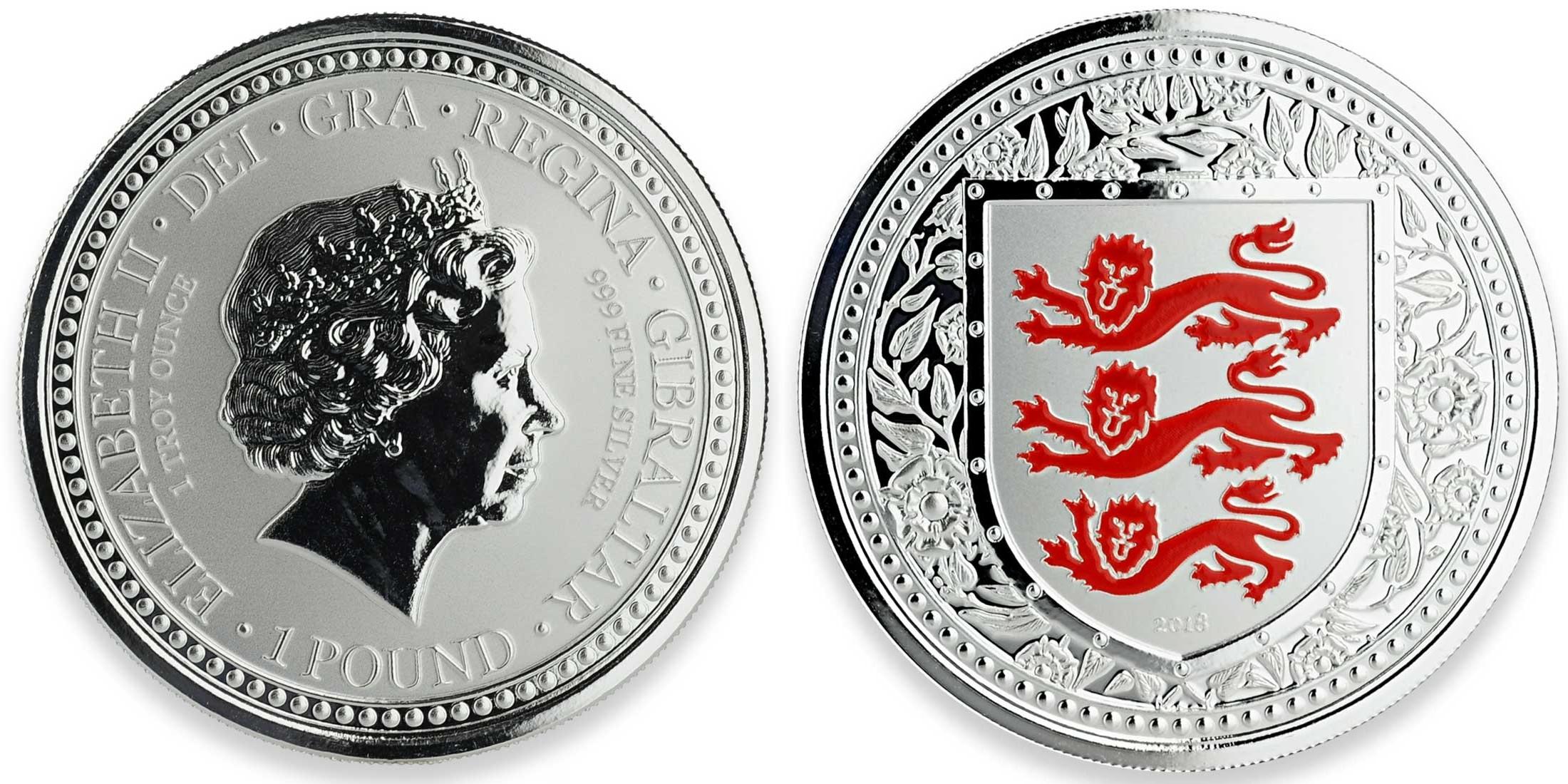 gibraltar 2018 armes royales d'angleterre rouge