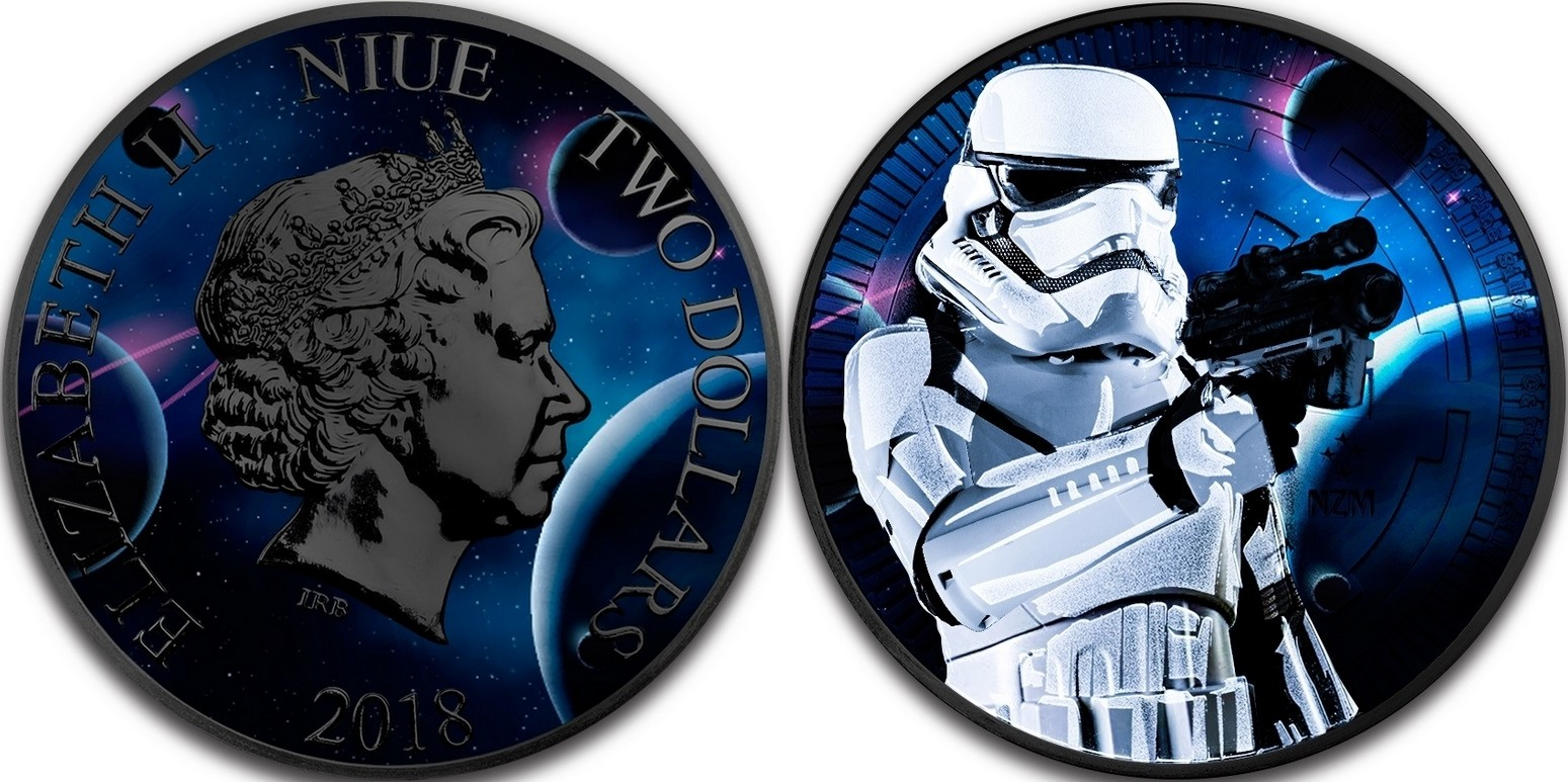 niue 2018 star wars storm trooper ruthenium