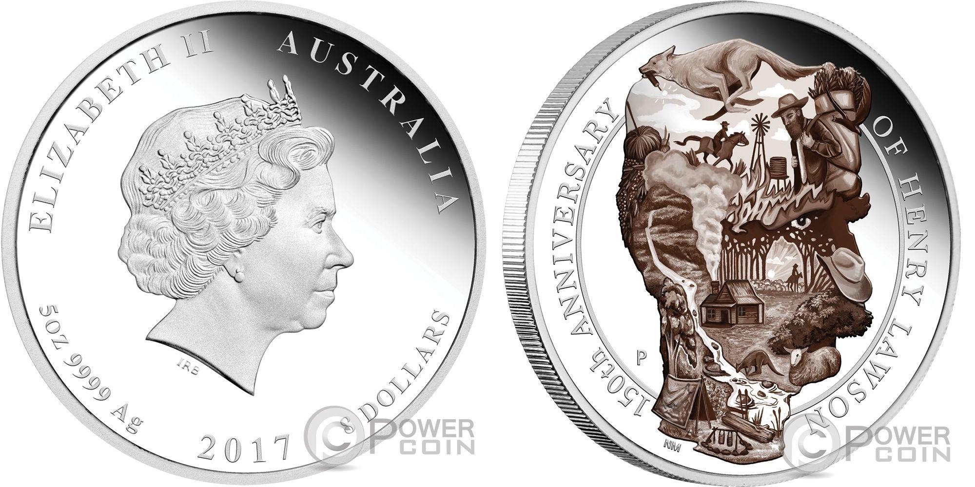 australie 2017 henry lawson 5 oz