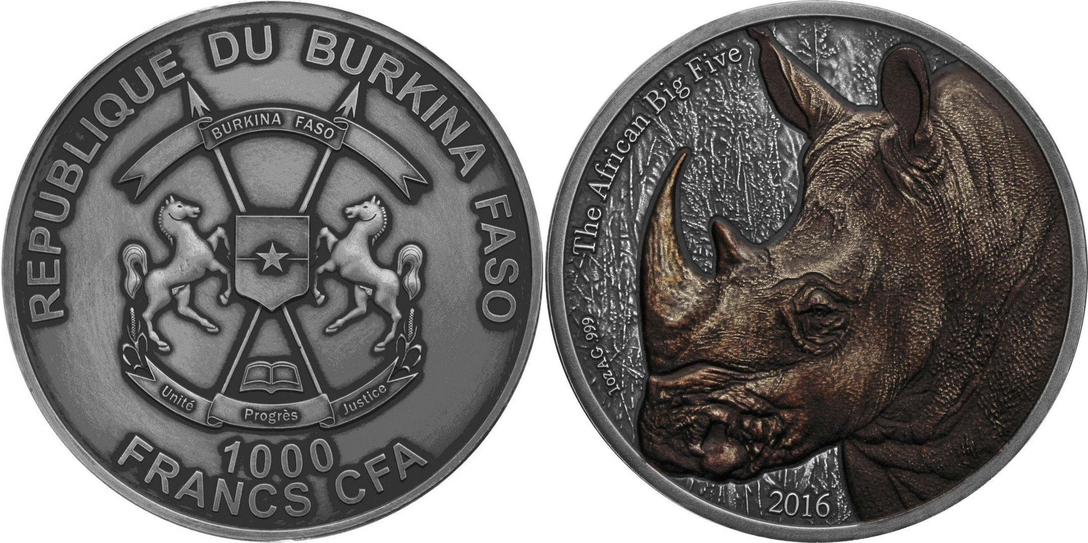 burkina faso 2016 big five rhinocéros couleur