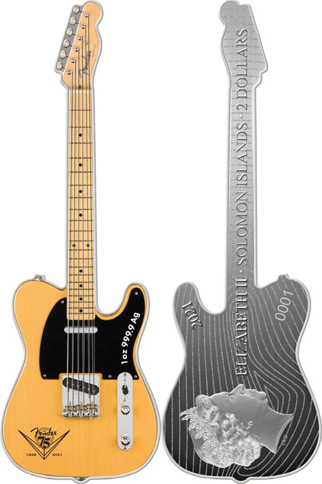 Fender 1oz Silver Telecaster - MTB Sales Sheet