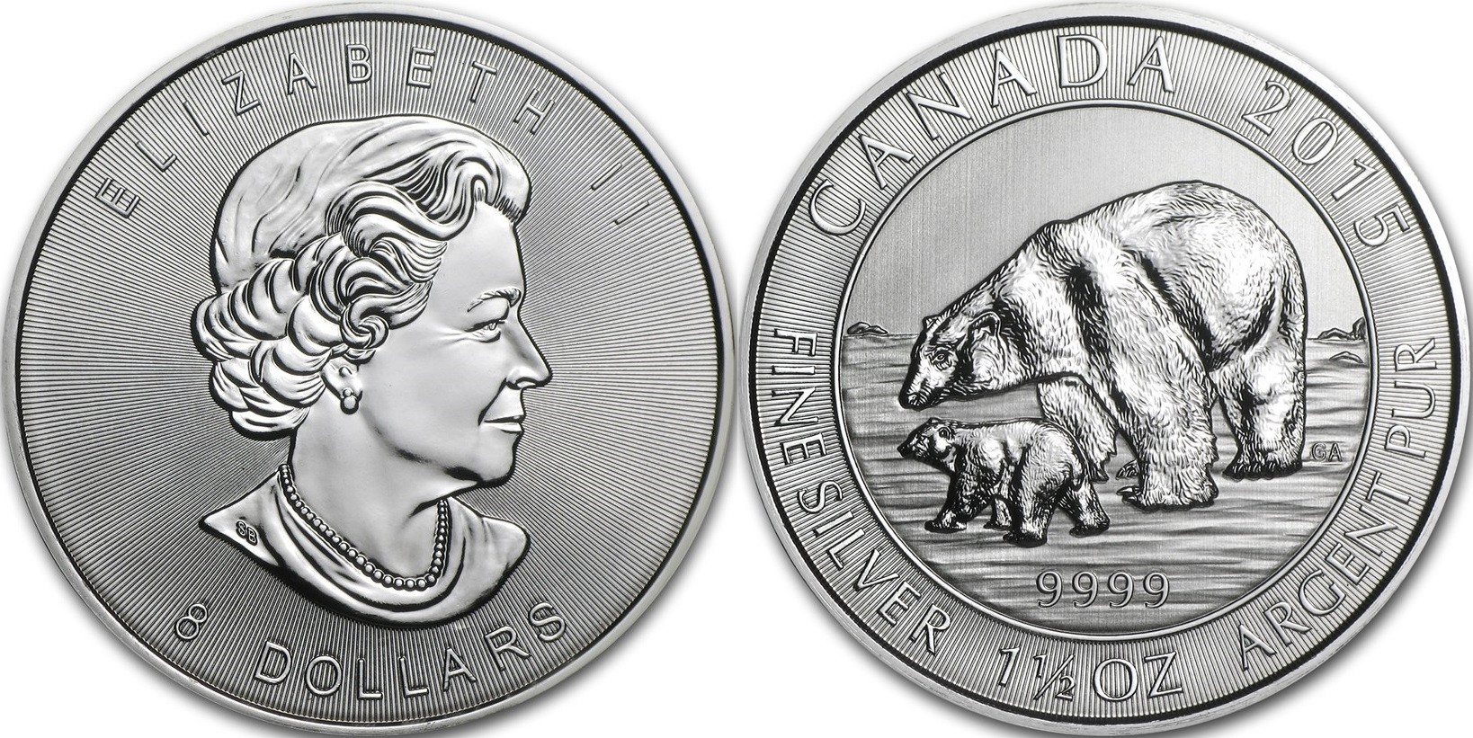 canada 2015 ours polaire 1.5 oz