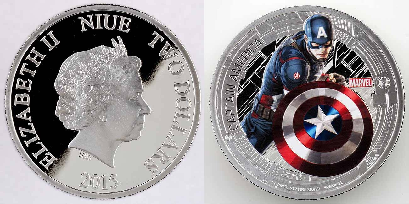 niue 2015 avengers captain america