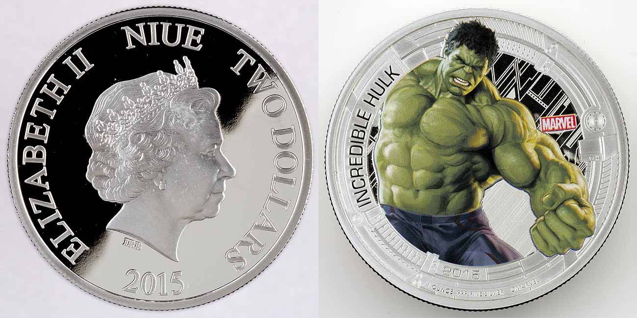 niue 2015 avengers hulk