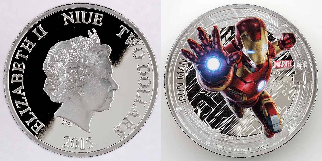 niue 2015 avengers iron man