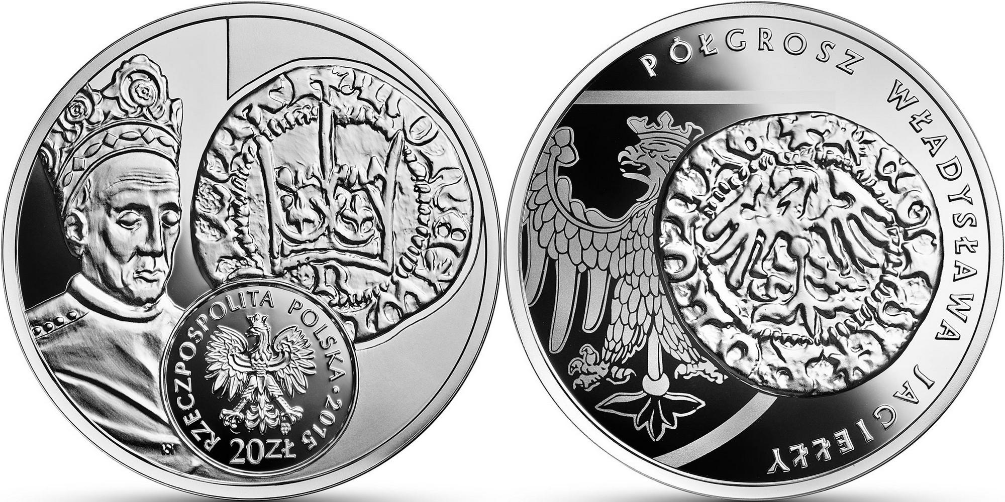 pologne 2015 histoire de la monnaie demi grosz de ladislas jagiello