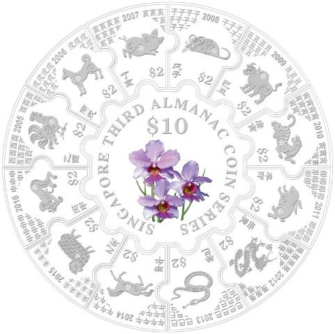 singapour 2016 monnaie almanac