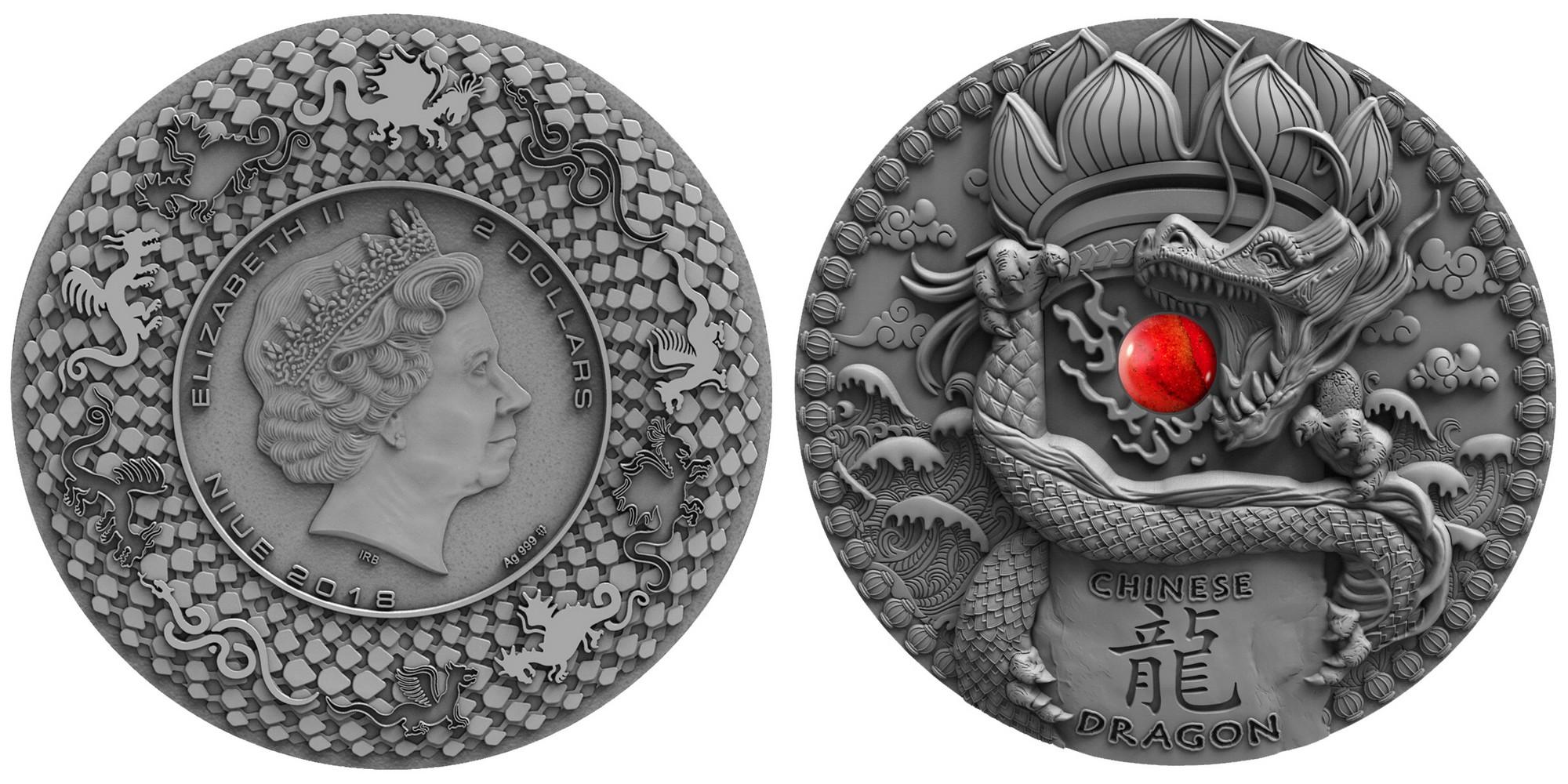 niue 2018 dragon chinois