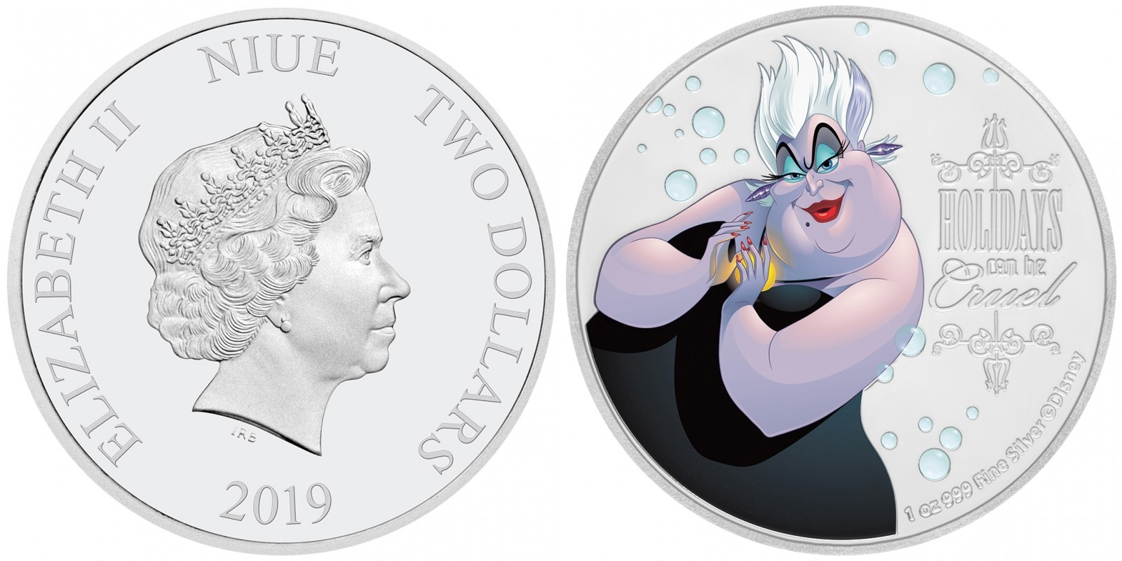 niue 2019 méchants de disney ursula