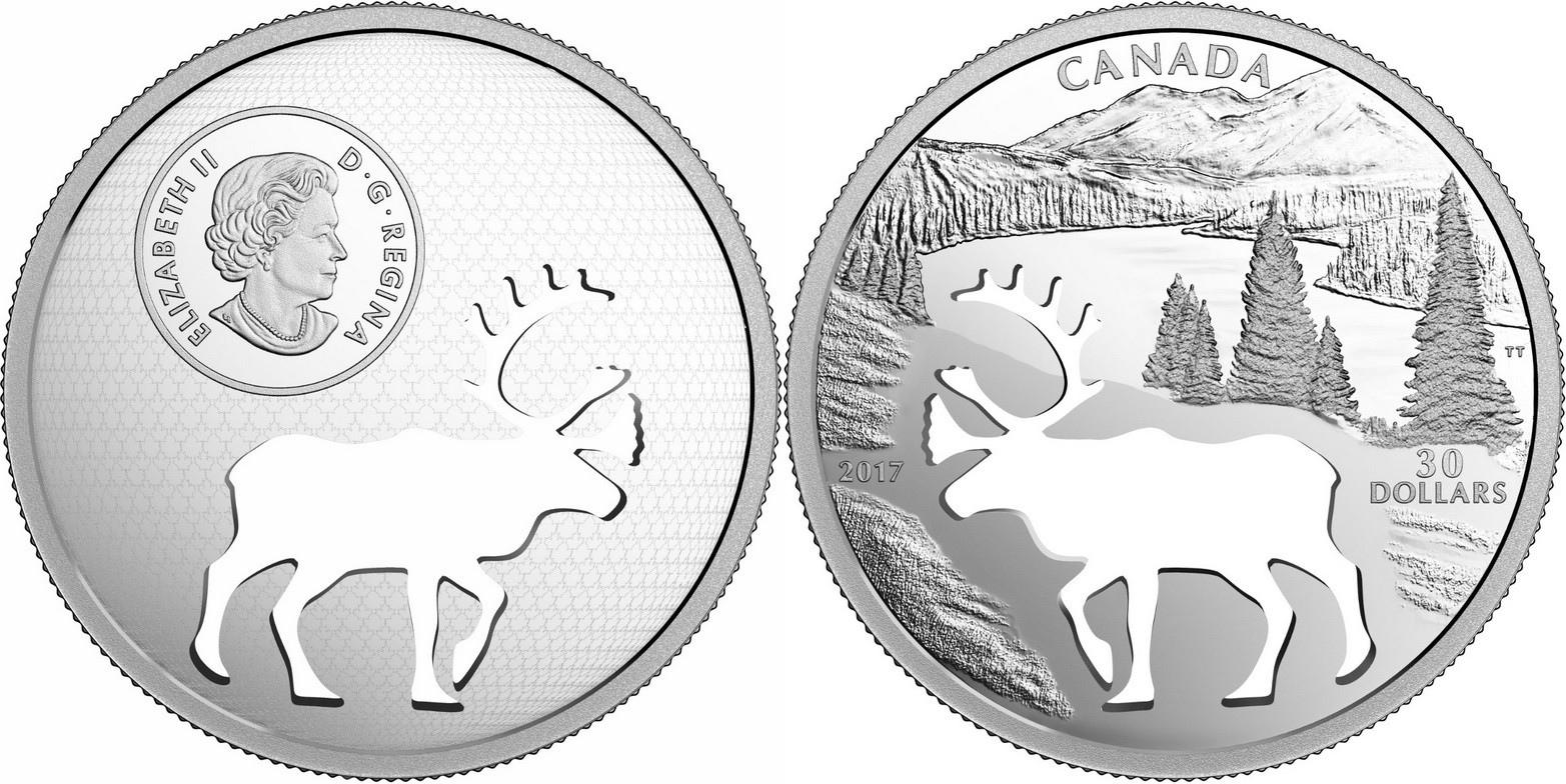 canada 2017 caribou silhouette