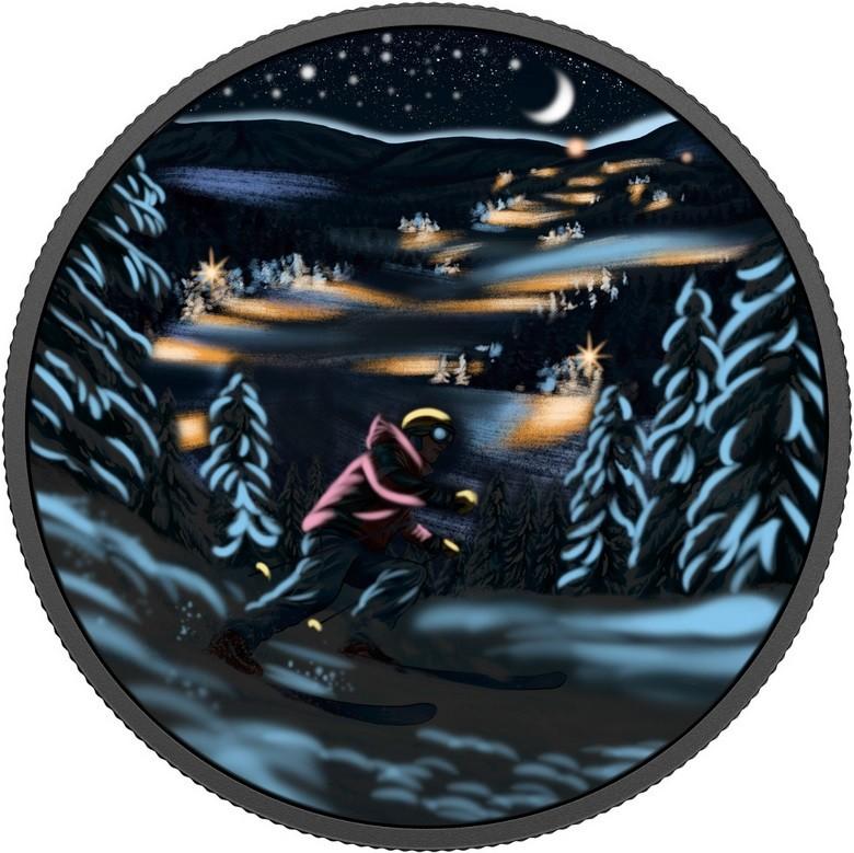canada 2017 ski de nuit fluo