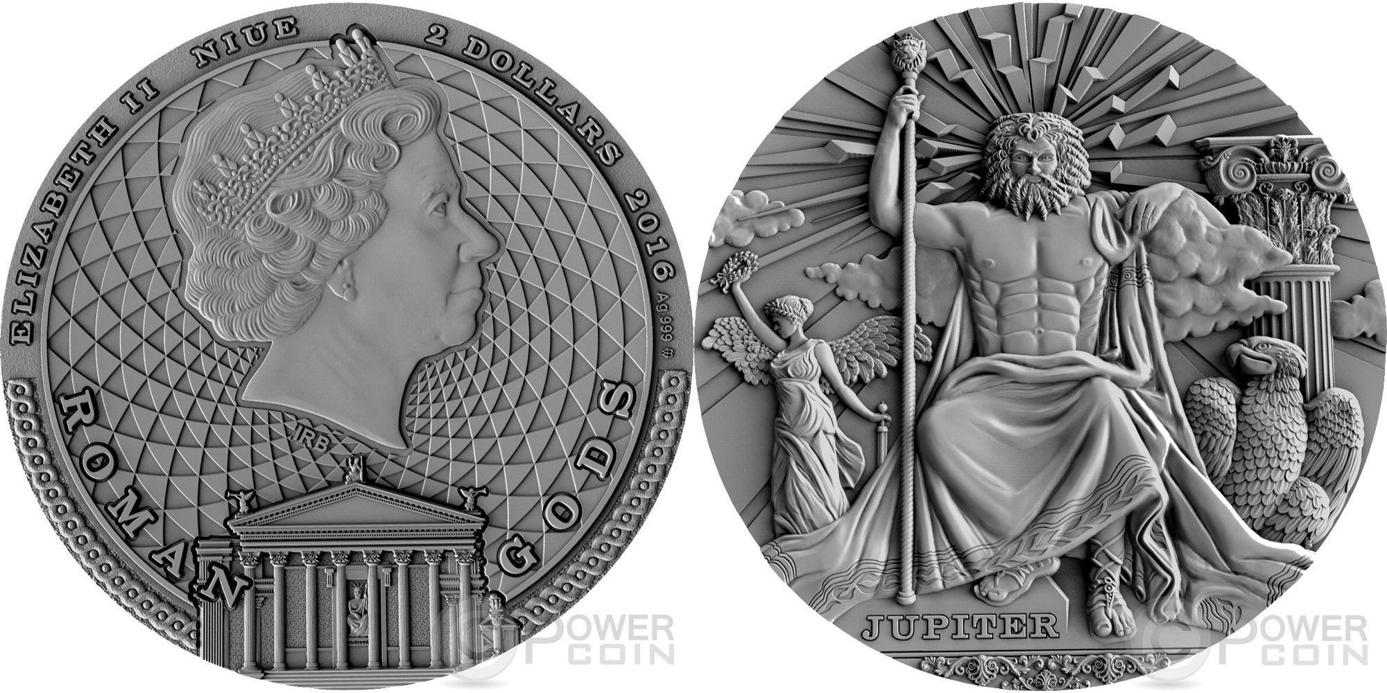 niue 2016 dieux romains jupiter