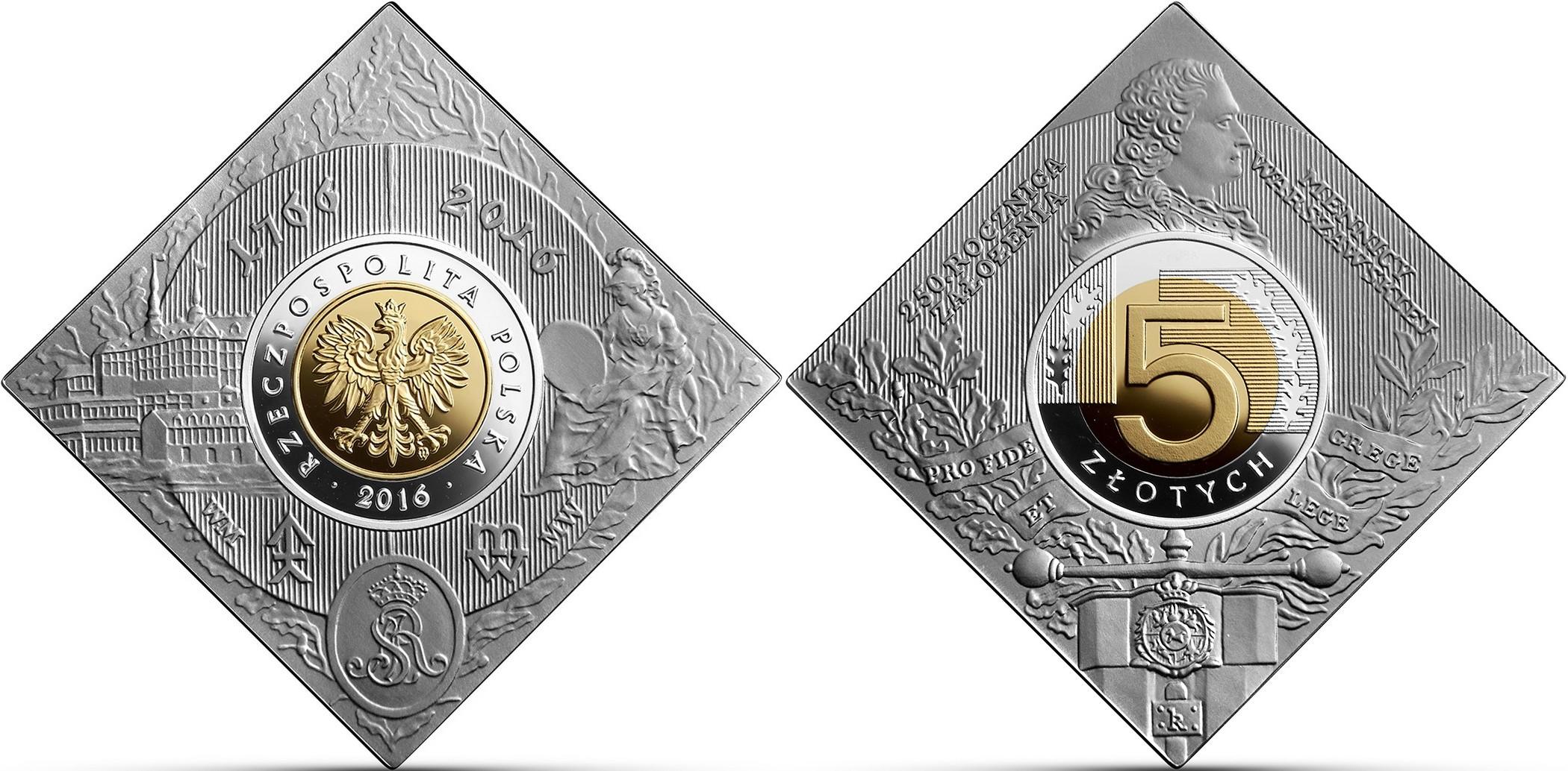 pologne 2016 250 ans atelier de monnaies de varsovie