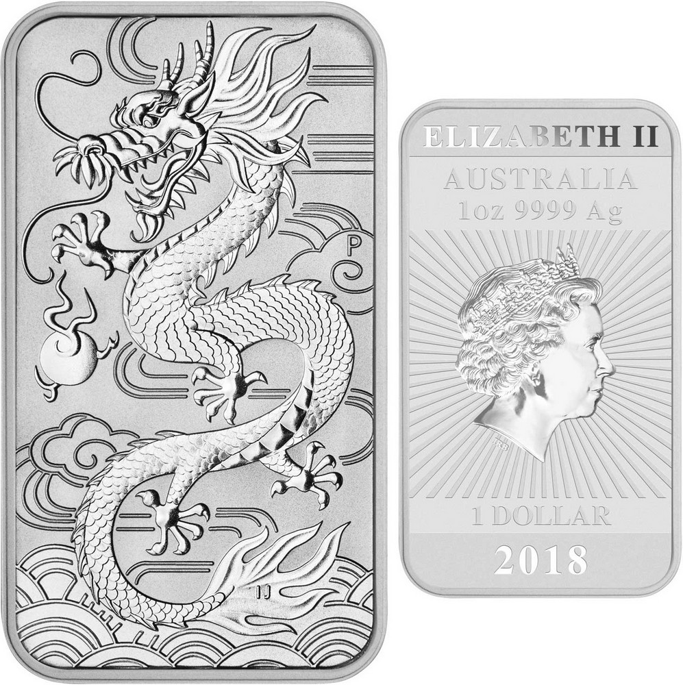 australie 2018 dragon bullion