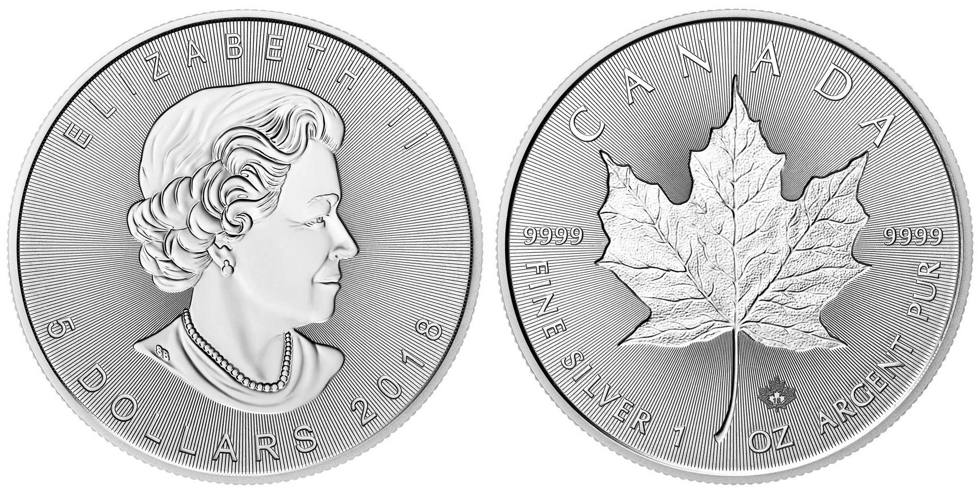 canada 2018 feuille d'érable bullion