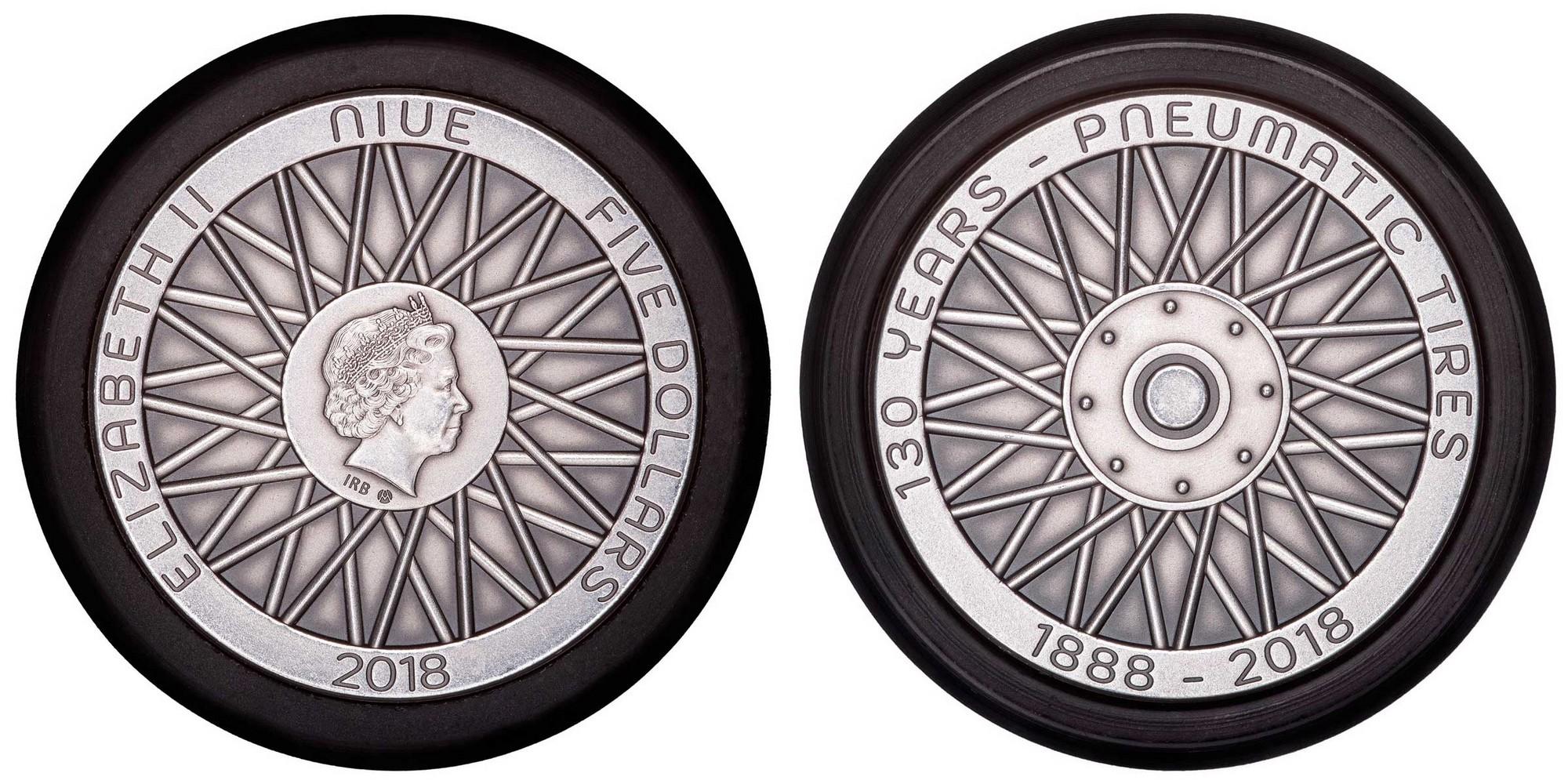 niue 2018 130 ans invention du pneu