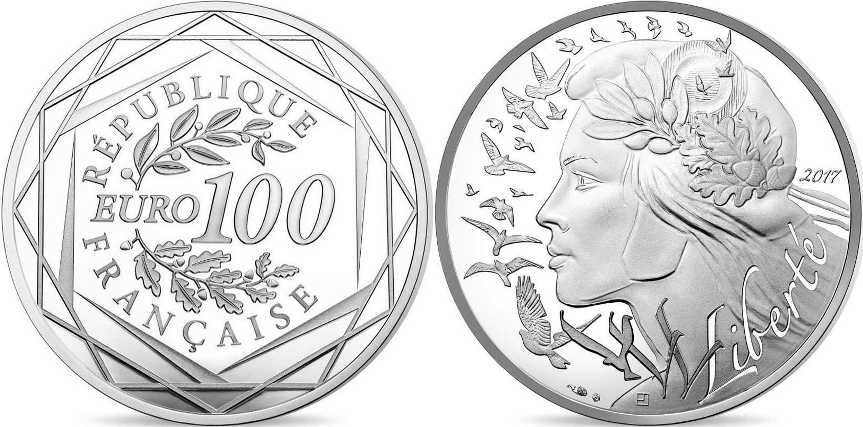 france 2017 semeuse 100 euro