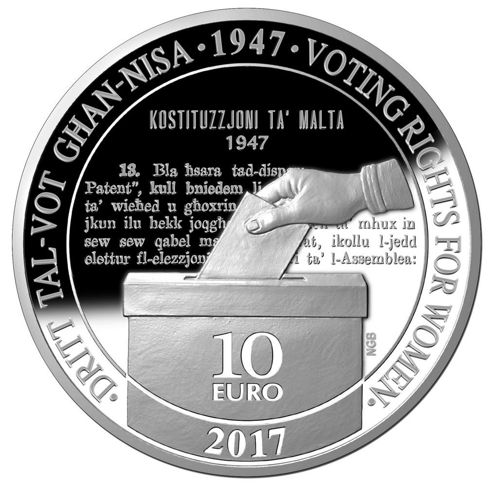 malte 2017 70 ans du droit de vote pour les femmes