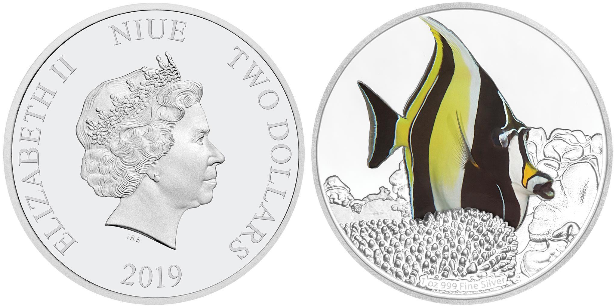 niue 2019 poisson de corail zancle cornu