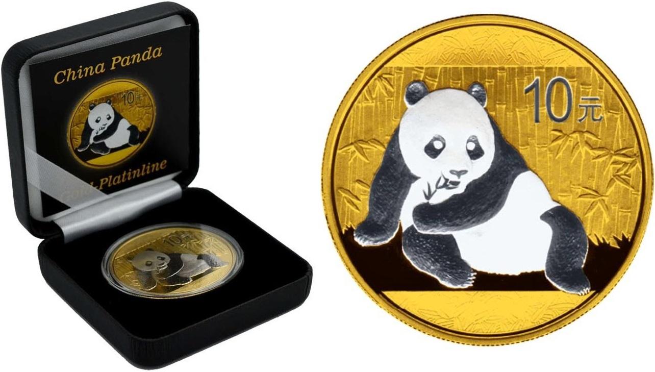 chine 2015 panda gold-platinline