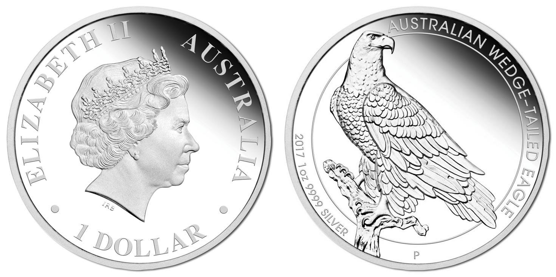 australie 2017 aigle pygargue proof
