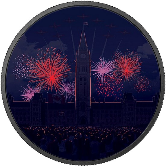 canada 2017 150 ans 2 oz luminescente