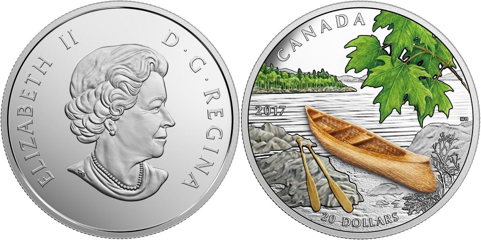 canada 2017 canoe dans un paysage serein