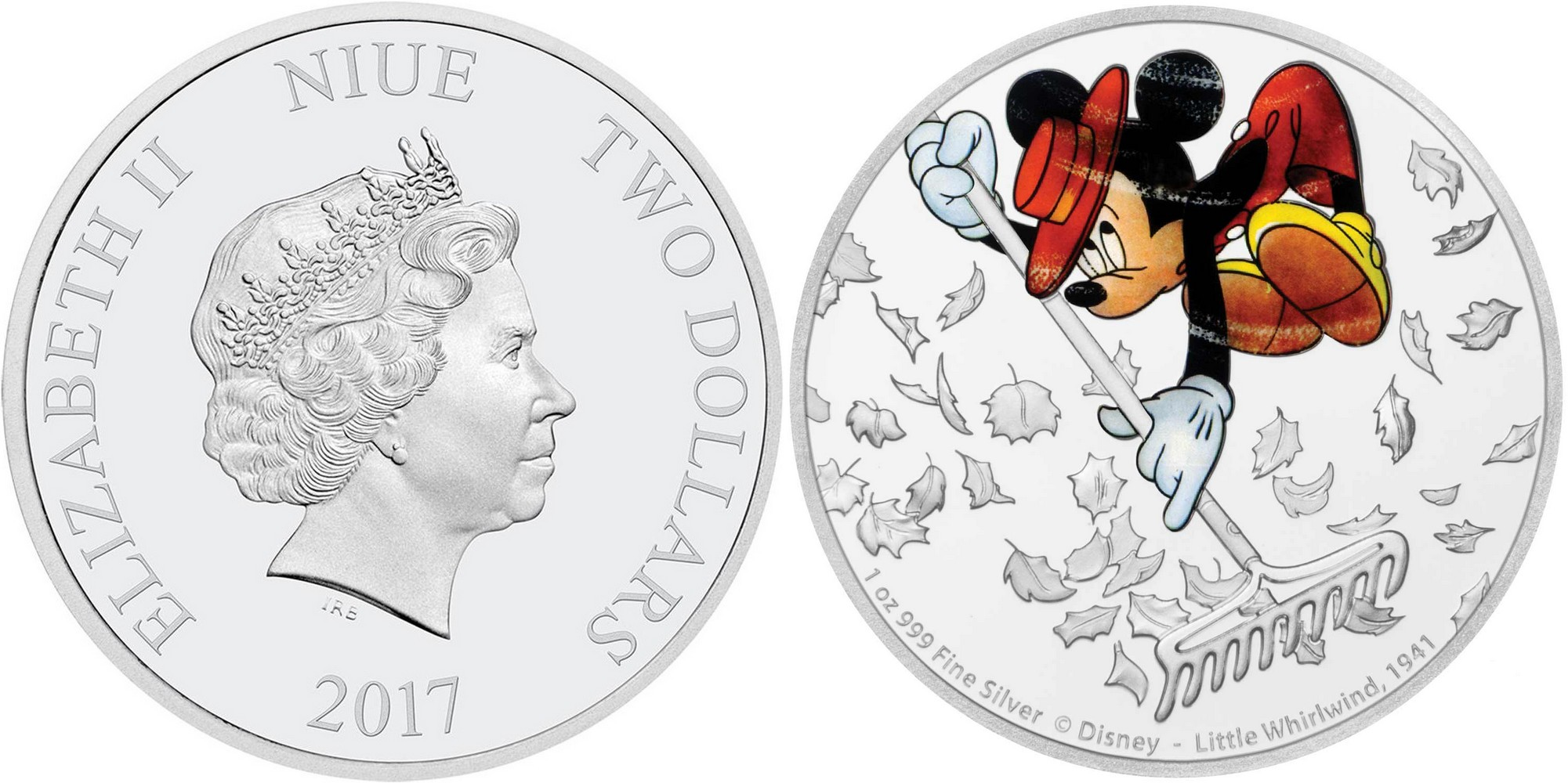niue 2017 mickey mouse le petit tourbillon