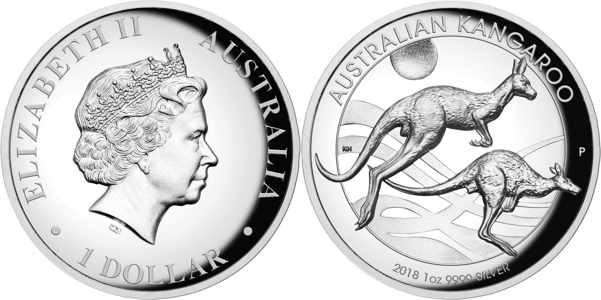 australie 2018 kangourou hr 1 oz