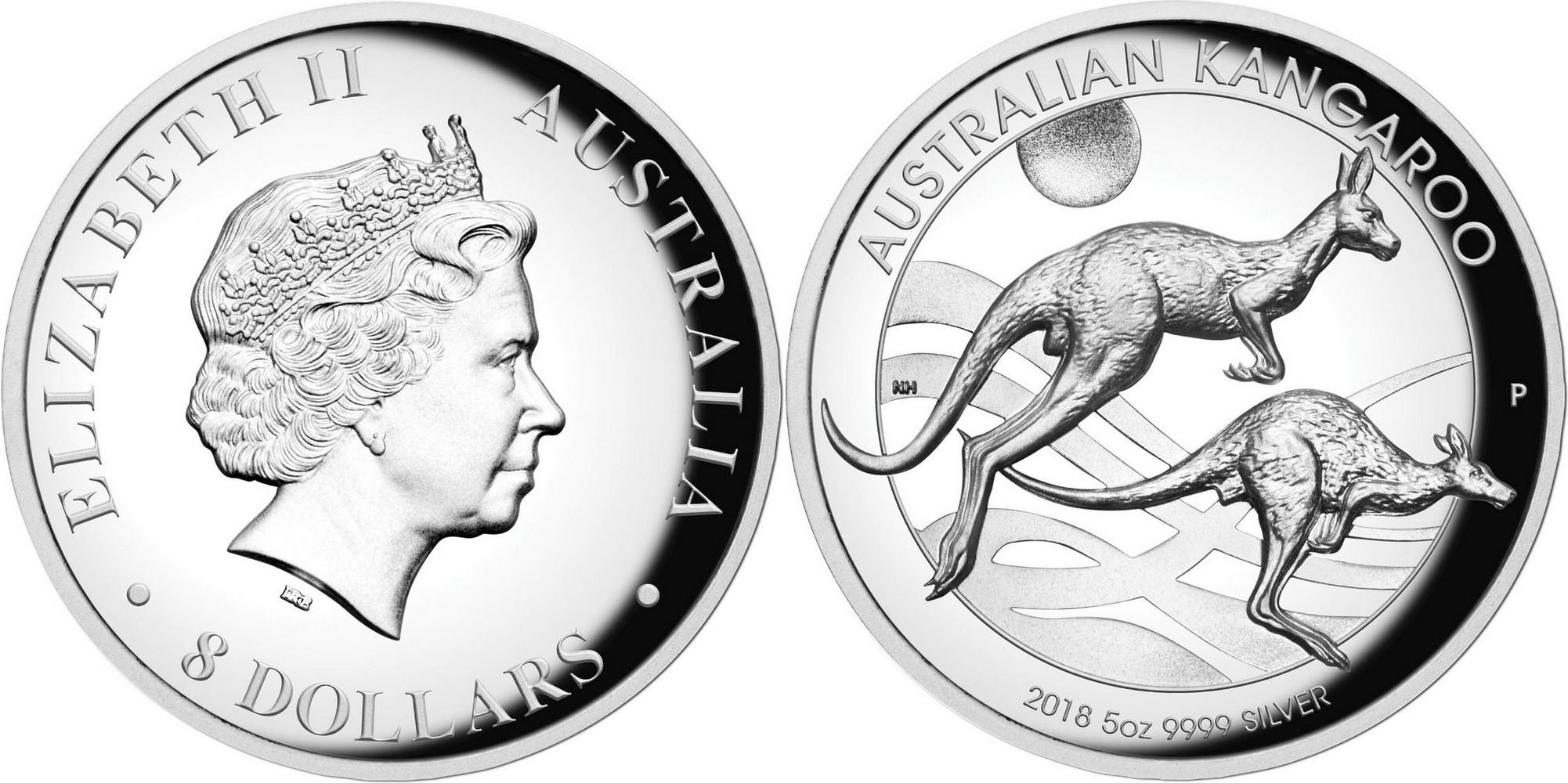 australie 2018 kangourou hr 5 oz