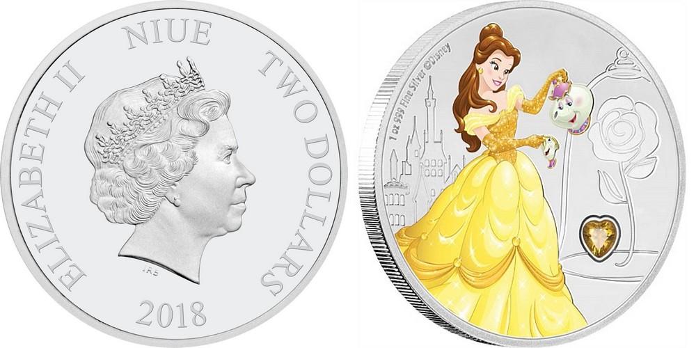 niue 2018 disney princesse belle