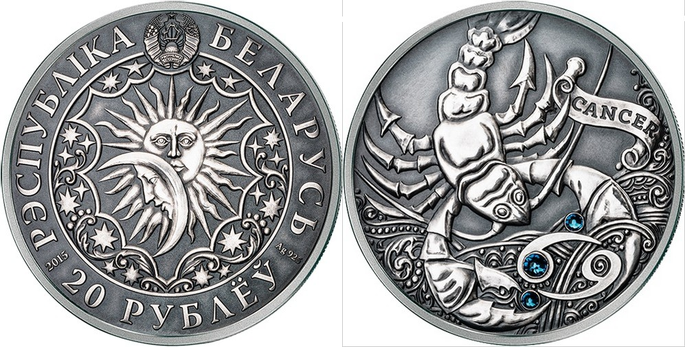 belarus 2015 zodiaque cancer