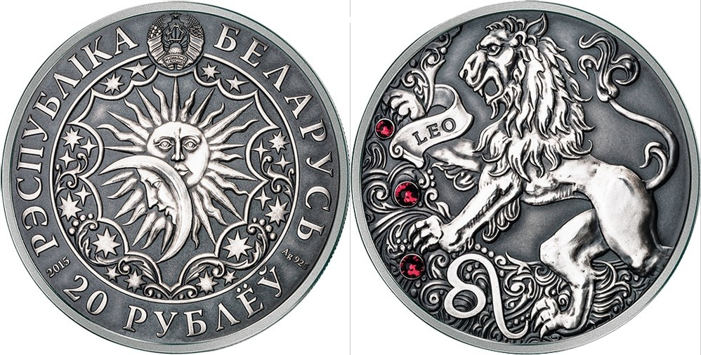 belarus 2015 zodiaque lion
