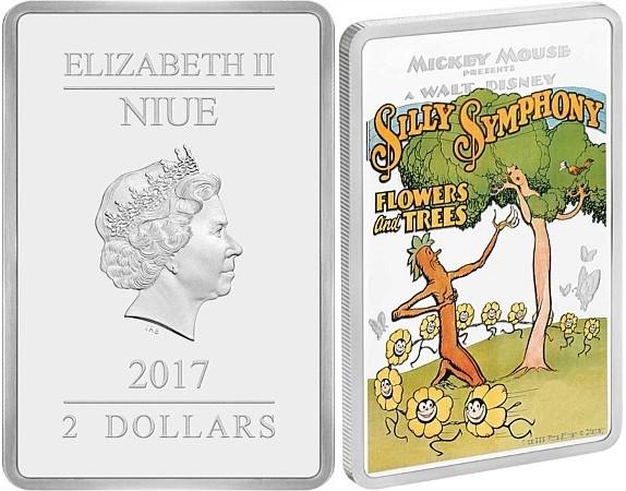 niue 2017 disney fleurs et arbres