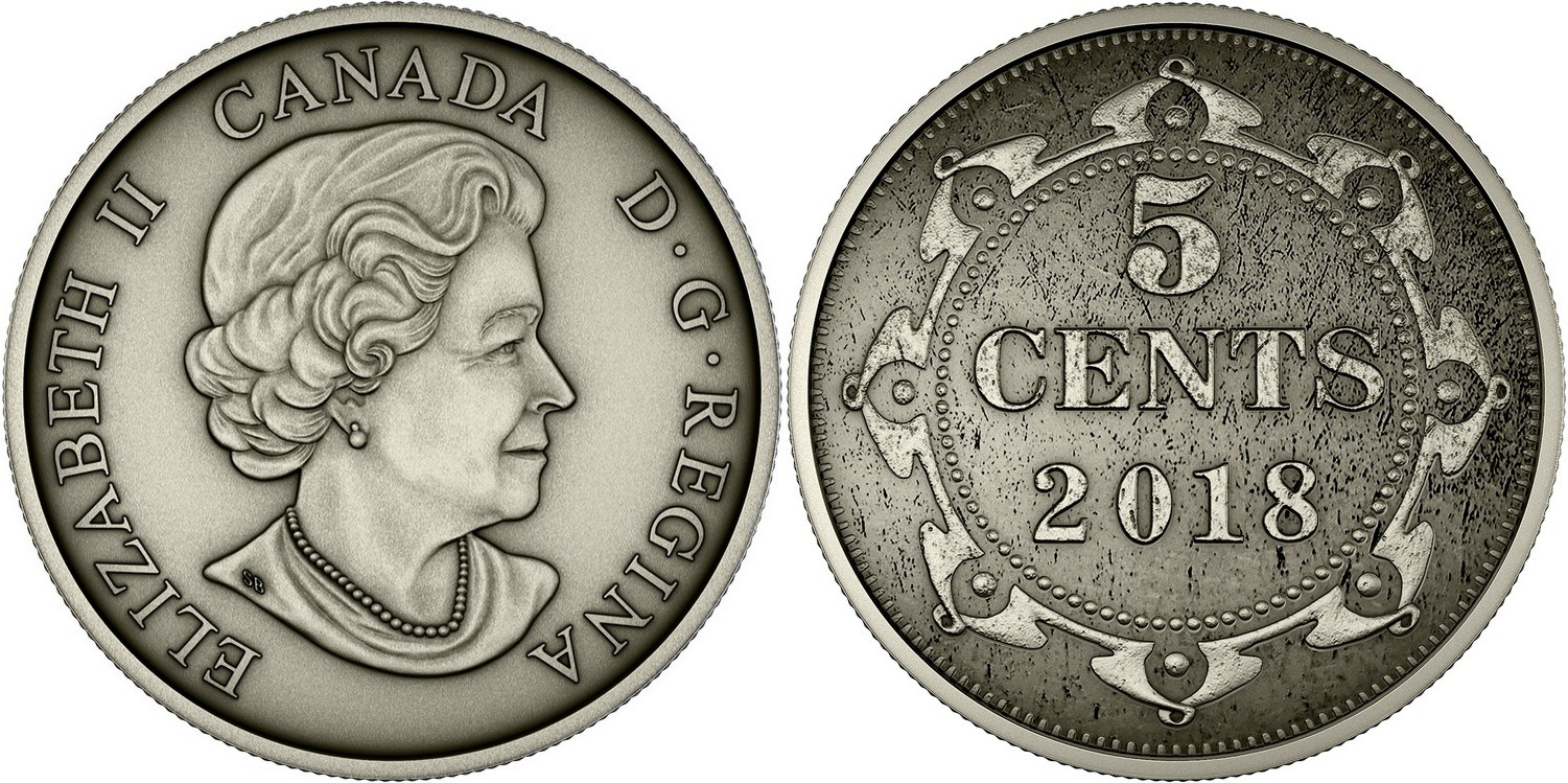 canada 2018 set colonies 5 cents