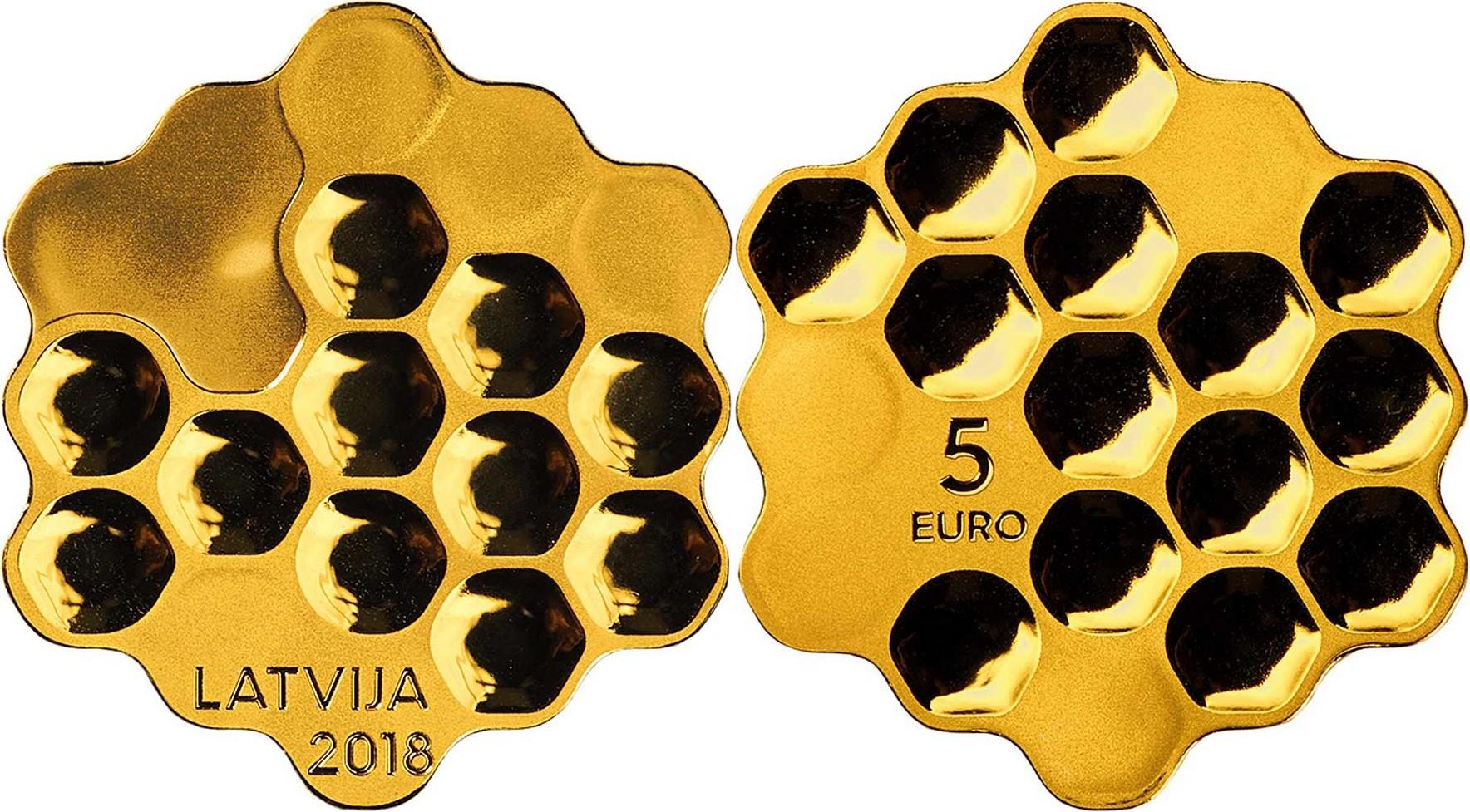 lettonie 2018 monnaie miel