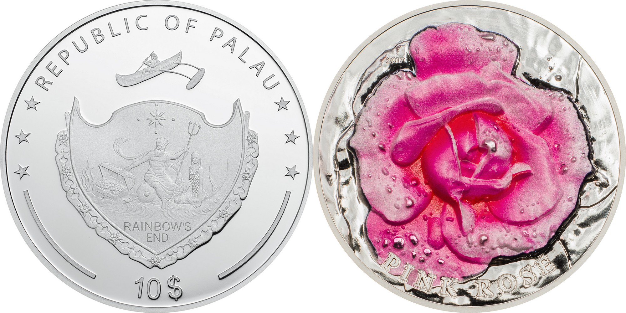 palau 2017 rose haut relief