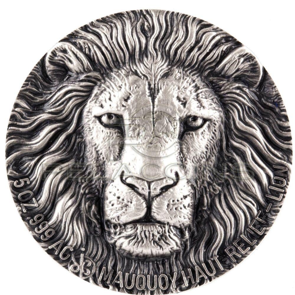 cote d'ivoire 2016 lion haut relief 5 oz