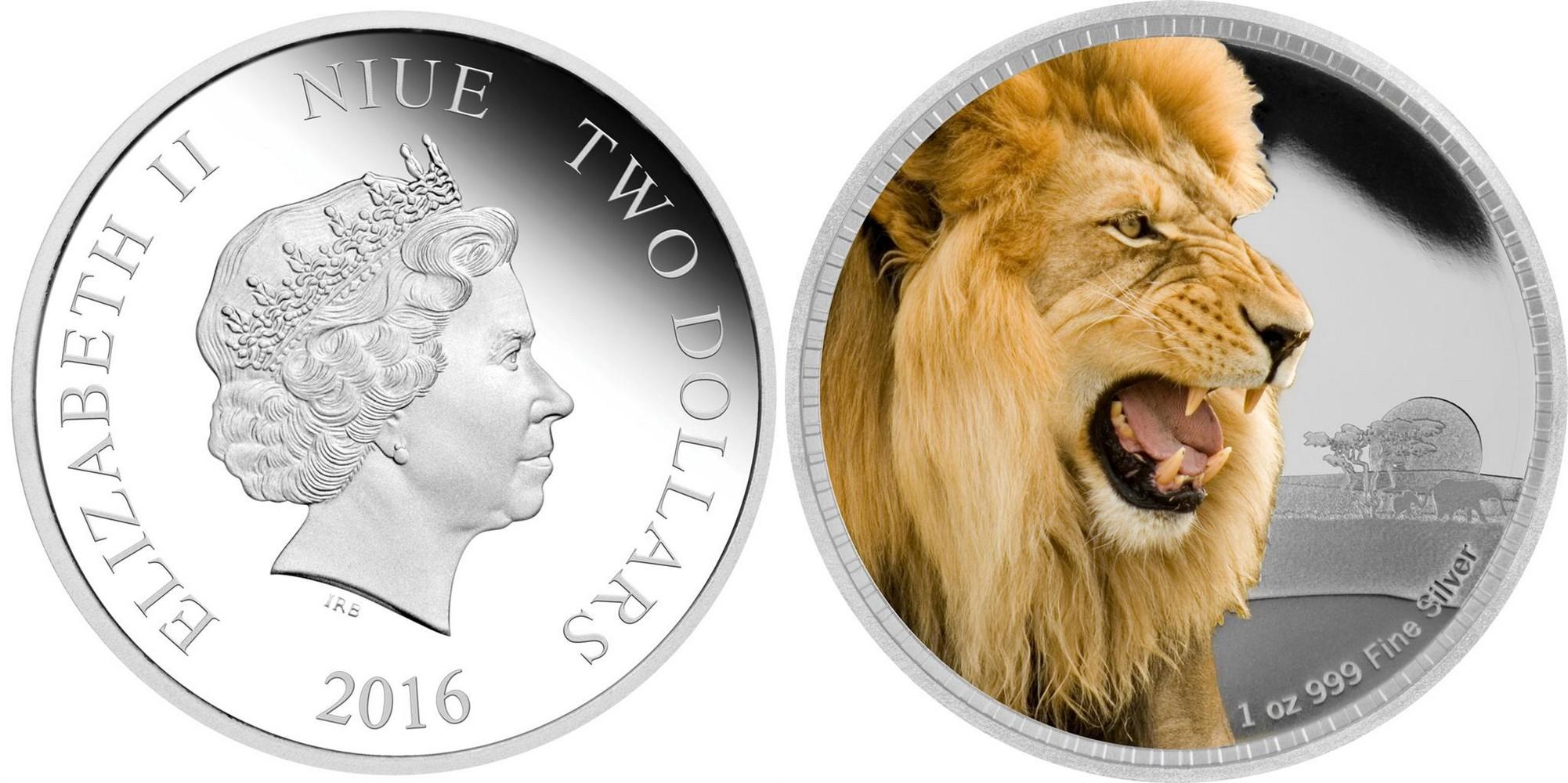 niue 2016 rois des continents lion