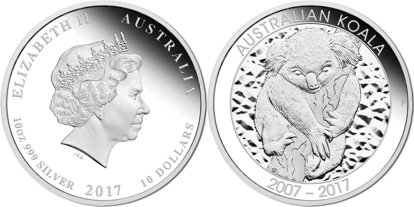 australie 2017 koala 10 oz
